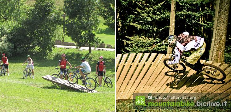il bike park nel territorio di Folgaria, Lavarone, Lusena
