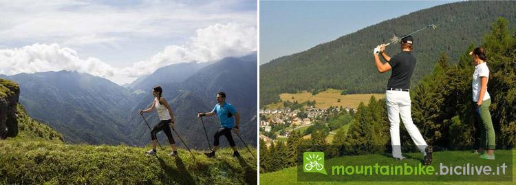 trekking e golf a Folgoria, Lavarone e Luserna
