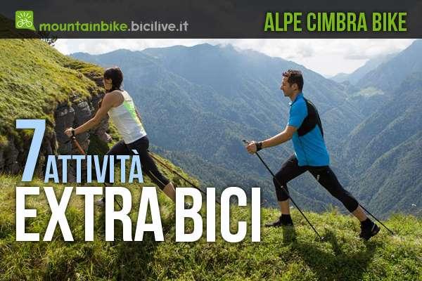 7 attività extra bici da fare nell'Alpe Cimbra