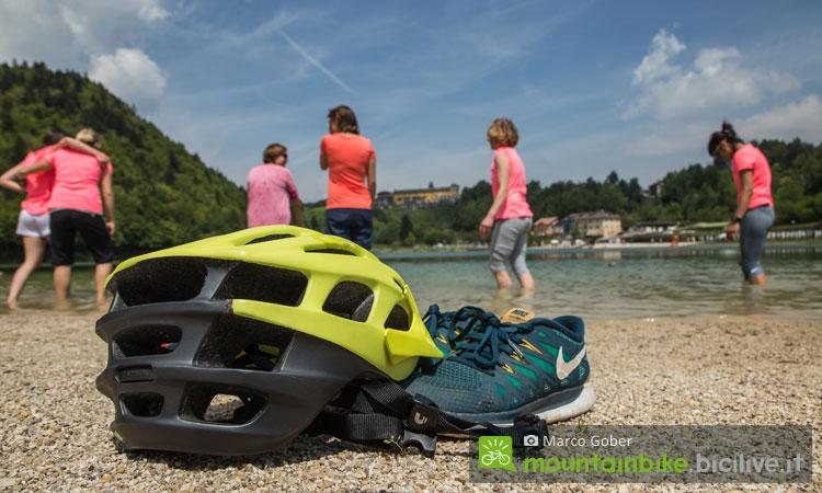 relax al lago di lavarone dopo una pedalata