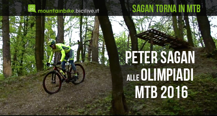 Peter Sagan annuncia che parteciperà alle Olimpiadi mtb xc, cross country,di Rio 2016 in sella ad una mountain bike