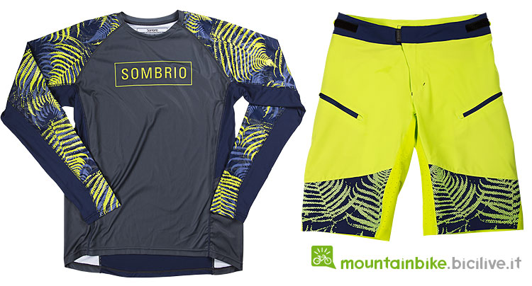 maglietta e pantaloni della collezione di abbigliamento per il ciclismo Sombrio