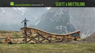 una rampa del bike park Mottolino di Livigno frutto della collaborazione con Scott