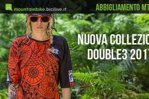 Copertina che mostra abbigliamento Double3 mountain bike modello donna.