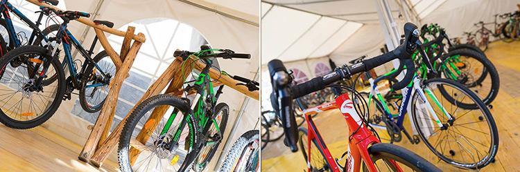 foto delle Le mountain bike Scott e l bici da strada Carrera sono disponibili al noleggio dell'Alpen Village Hotel.