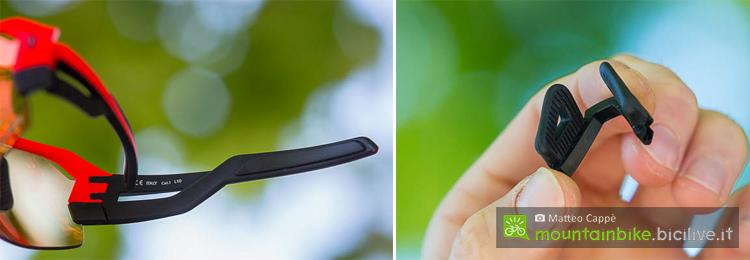 foto delle astine e del nasello degli occhiali scott spur