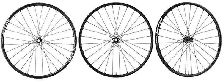 foto delle ruote mtb shimano xtr carbon