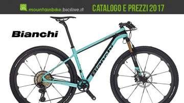 catalogo e listino prezzi mtb Bianchi 2017