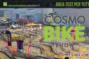 Area test della fiera Cosmo Bike Show: test mtb, test emtb, test bici da corsa, test bici elettriche e test gravel