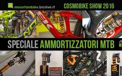 foto di vari ammortizzatori per bici da enduro e downhill