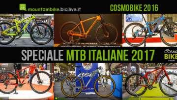 foto delle mtb italiane in fiera a cosmobike 2016