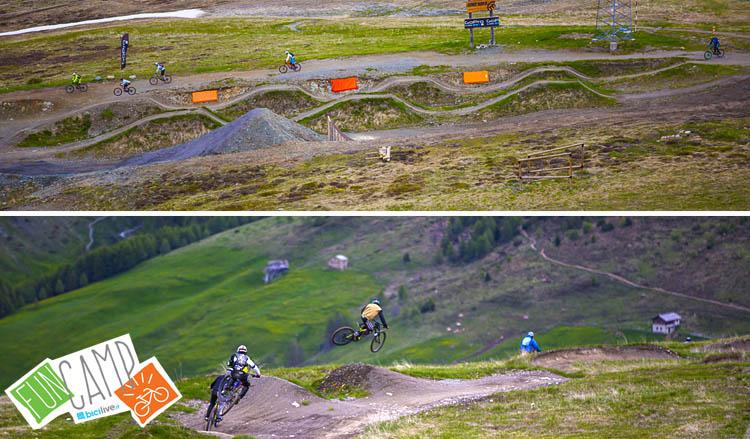 Divertimento sui trail del Mottolino con mtb e emtb, dove si svolgerà il corso di mtb e emtb di BiciLive