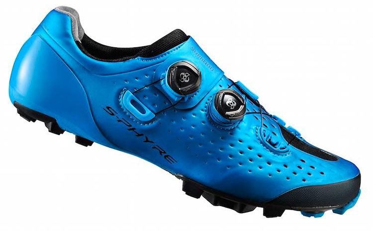 foto della scarpe mtb shimano s-phyre 2017 in versione blu