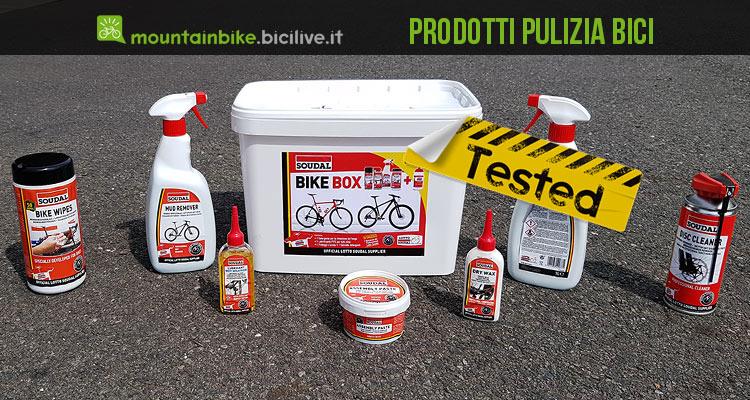 foto dei prodotti pulizia bici soudal
