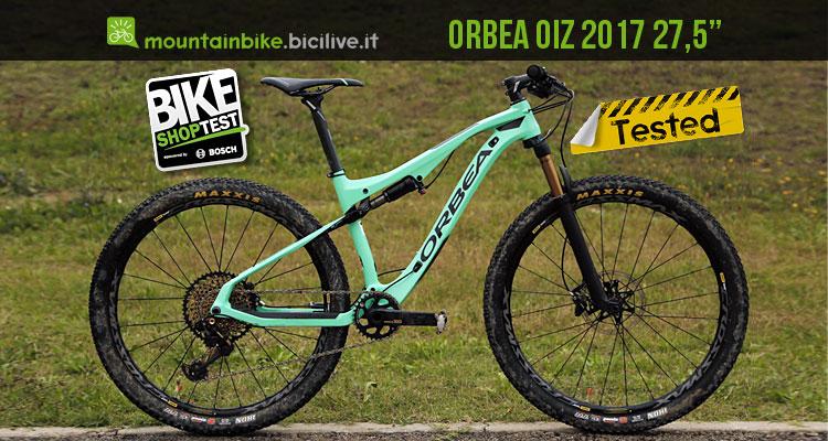 mtb Orbea OIZ 2017 27,5 provata al Bike Shop Test di Bologna