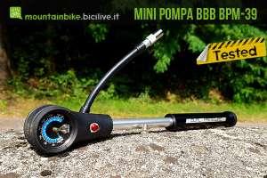 foto della pompa BBB per mtb, gomme e sospensioni