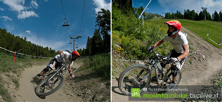 paraboliche e salti al Pila Bike Planet