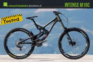 test della mtb gravity dh intense m16c expert build