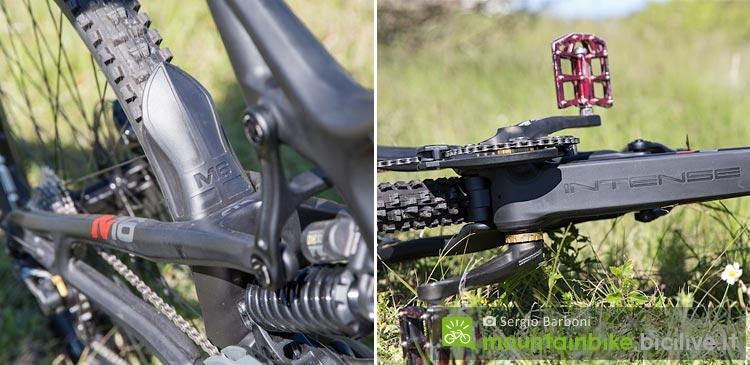 paragango e protezione tubo obliquo della mountain bike Intense M16C