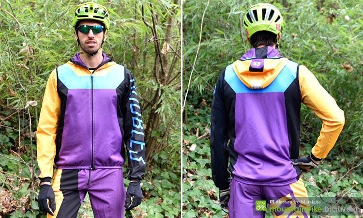 fronte e retro del gilet da ciclismo double 3 spirit