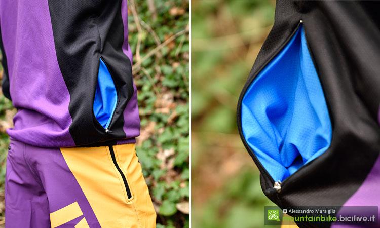 tasche della giacca da ciclismo double 3 spirit