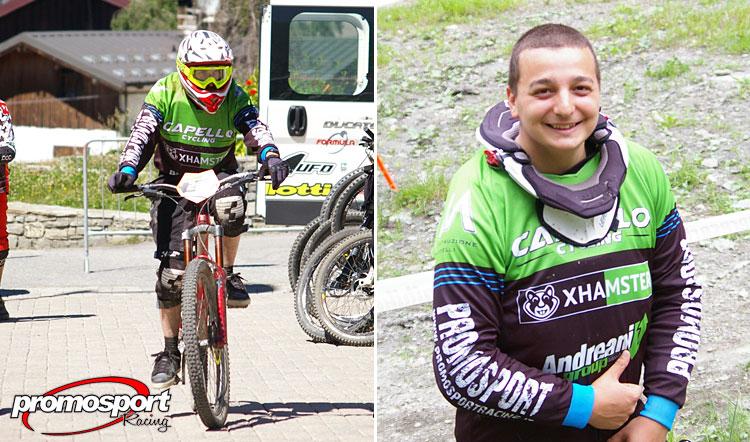 due ciclisti del team Promo Sport Racing di Torino