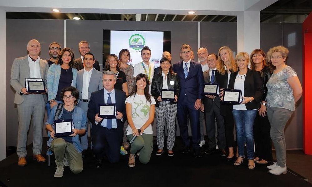 premiazioni alla fiera del ciclismo CosmoBike Show