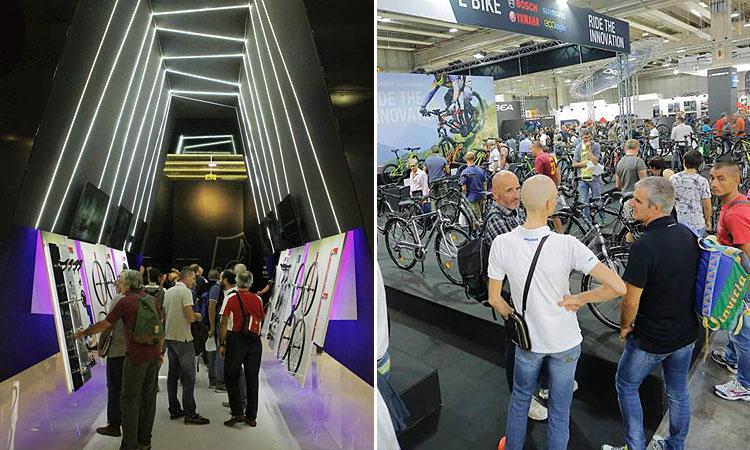 stand della fiera internazionale del ciclismo CosmoBike Show