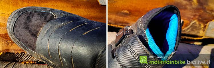 foto della scarpa mtb spd shimano me7 della punta in mesh