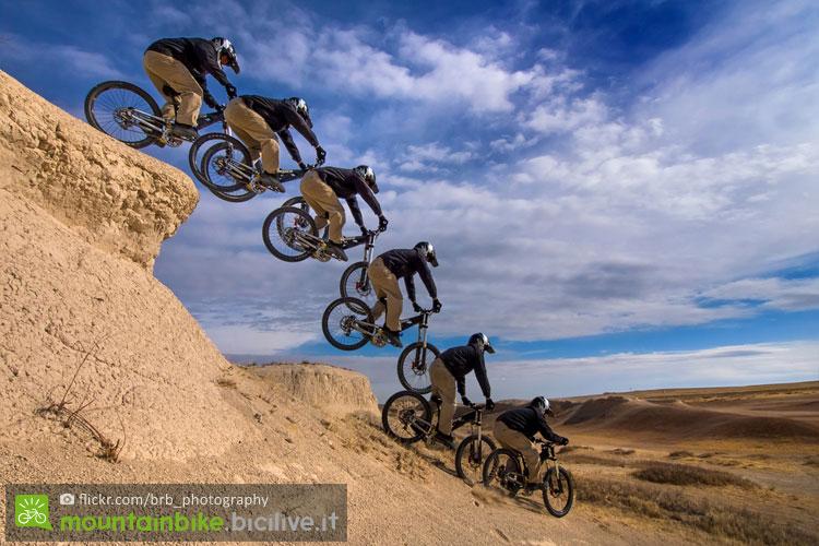biker impara a far un drop con la mtb
