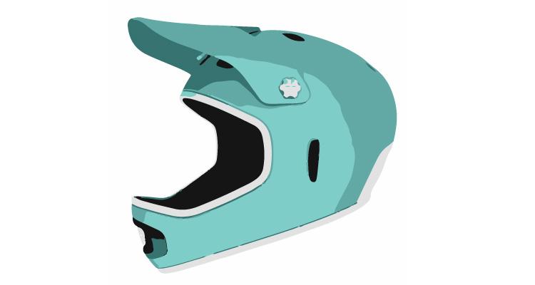 casco integrale da downhill con mentoniera