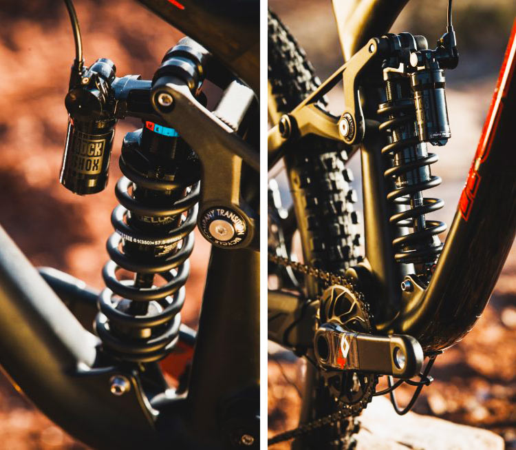 foto dell'ammortizzatore mtb Rockshox super deluxe coil remote di profilo