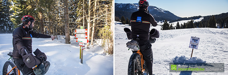 foto di un biker con fat bike in ALpe cimbra