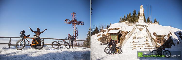 foto dei paesaggi del primo anello fat bike dell'alpe cimbra