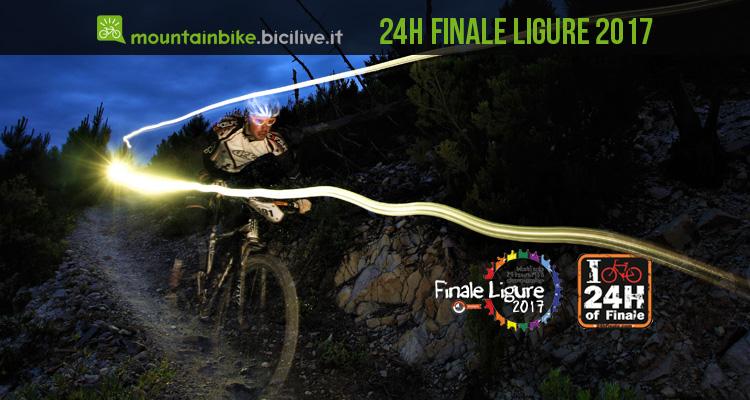 biker impegnato durante la 24 h di finale ligure 2017