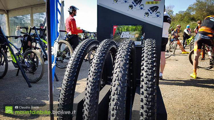 foto dei quattrro modelli di pneumatici mtb michelin 2017