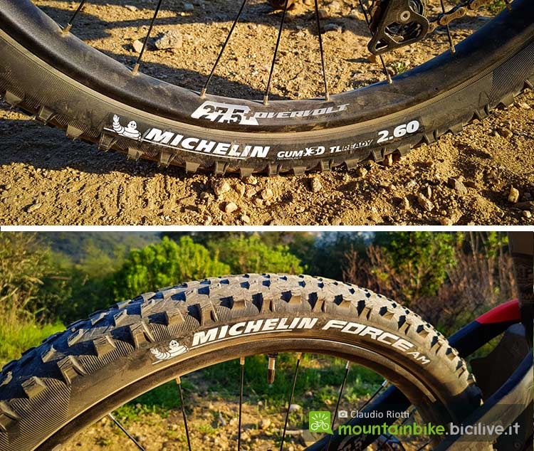 foto degli pneumatici mtb michelin force am 2.60 da trail all mountain