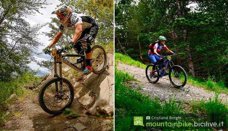 biker affrontano i single track per le mtb sul monte cimone