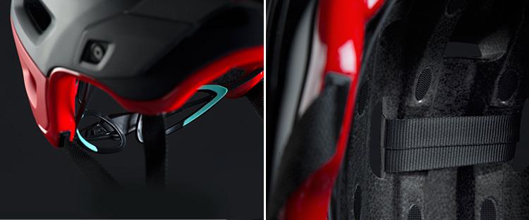 regolazione con luce led del casco met roam