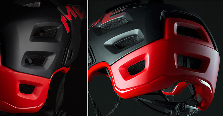 protezione di tempie e parte occipitale del casco roam