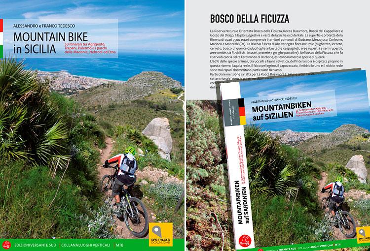 copetina di moutain bike in sicilia in italiano e tedesco