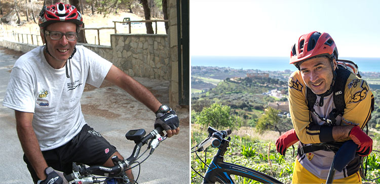 franco e alessandro tedesco autori di Mountain Bike in Sicilia