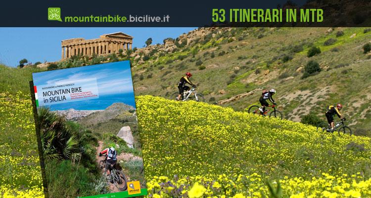 copertina del libro guida mountain bike in sicilia