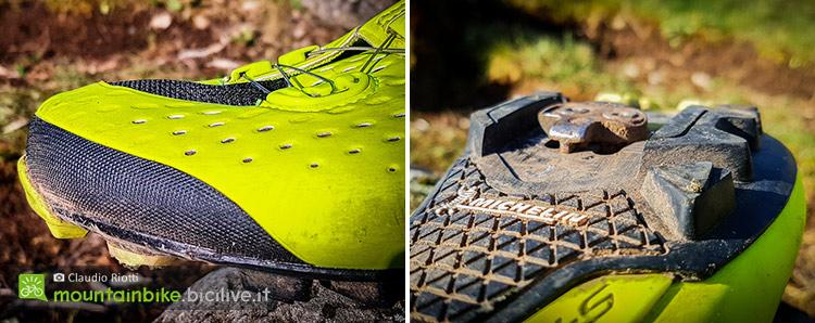 foto della punta delle scarpe shimano s-phyre e della suola