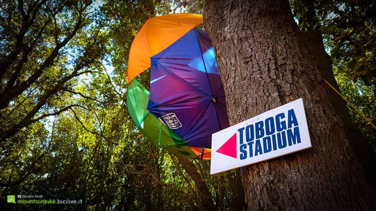 foto del cartello Toboga Stadium della 24h di finale ligure
