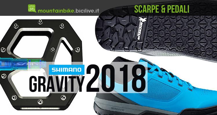 foto delle nuove scarpe e pedali shimano mtb 2018
