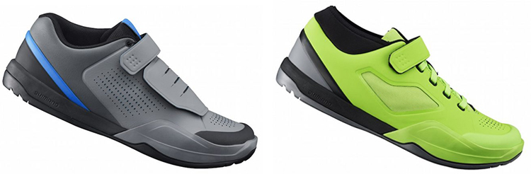 foto dellel scarpe mtb shimano am9 e am7