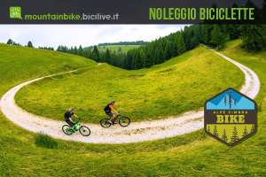 ciclisti non mtb noleggiata in alpe cimbra