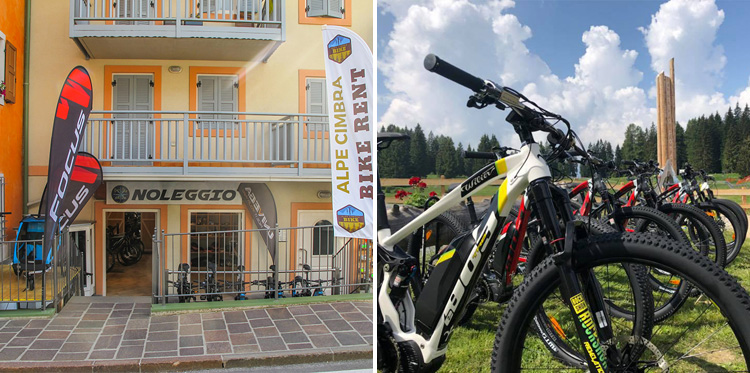 Negozi noleggio bici Alpe Cimbra Snowstar e Mill e Bike