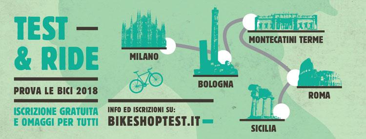 mappa delle tappe di bike shop test 2017